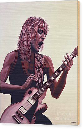 Randy Rhoads Wood Print by Paul Meijering