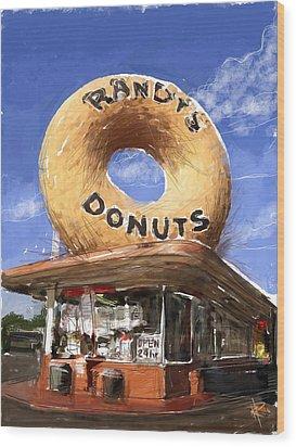 Randy's Donuts Wood Print