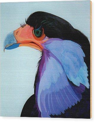 Raptor 5 Wood Print by Marlene Burns