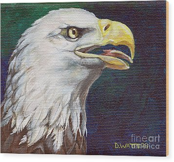 Raptor Attention Wood Print by Darlene Watters