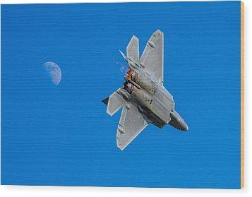 Raptor Moon Wood Print by Mark Goodman