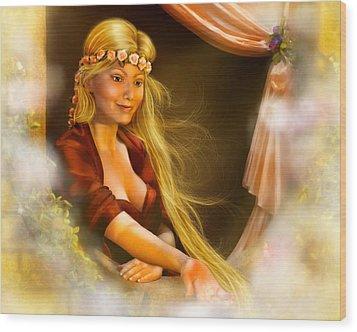 Rapunzel Wood Print