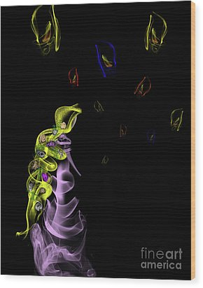 Rapunzel's Magic Flower Braid Wood Print