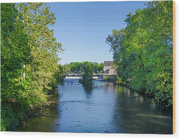 Raritan River - Clinton New Jersey  Wood Print by Bill Cannon