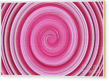 Wood Print featuring the digital art Rasberry Ripple  by Fine Art By Andrew David
