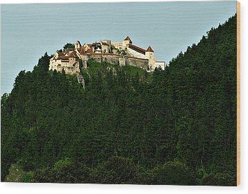 Rasnov Citadel Wood Print
