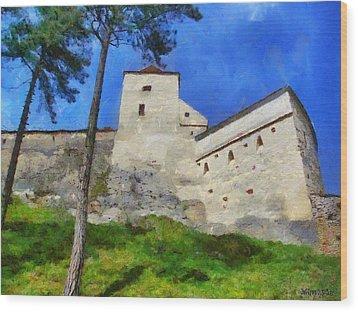 Rasnov Fortress Wood Print by Jeff Kolker
