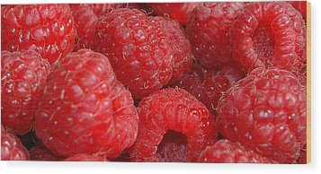 Raspberries Wood Print by Mark Platt