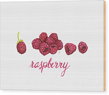 Wood Print featuring the painting Raspberry by Cindy Garber Iverson