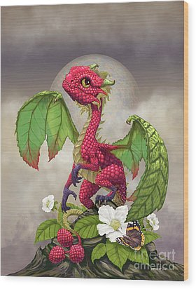 Raspberry Dragon Wood Print by Stanley Morrison