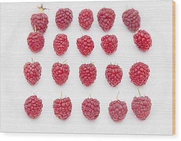 Raspberry Wood Print by Maj Seda