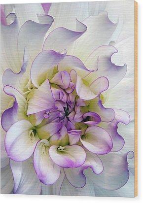 Raspberry And Cream Wood Print