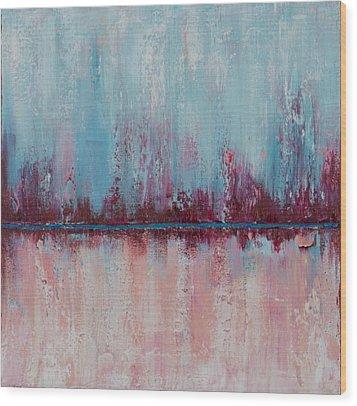 Raspberry Parfait Wood Print by Suzzanna Frank