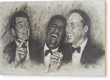 Rat Pack Wood Print by Cynthia Campbell