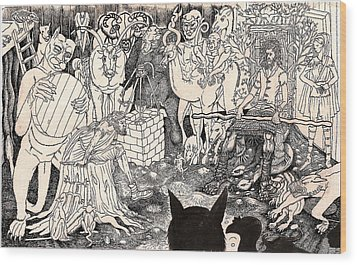 Rathbone Meets The Forest Lord Wood Print by Al Goldfarb
