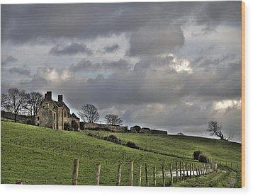 Rathfran House Wood Print by Marion Galt