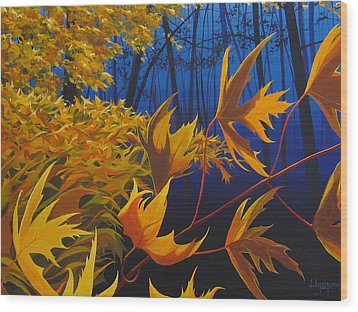 Raucous October Wood Print