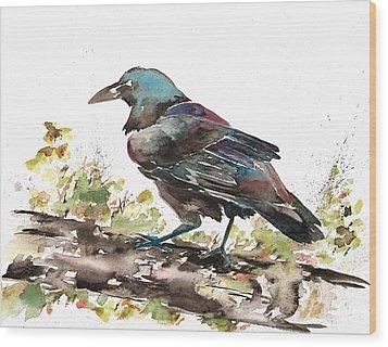 Raven 1 Wood Print