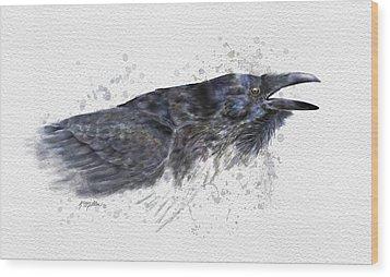 Raven 2 Wood Print