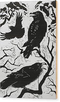 Ravens Wood Print by Nat Morley