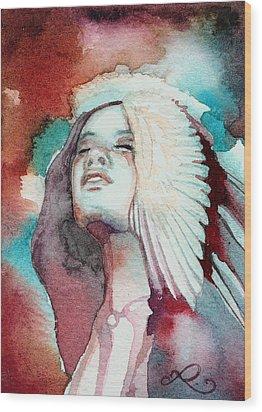 Ravensara Wood Print by Ragen Mendenhall