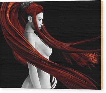 Ravishing Red Wood Print by Alexander Butler