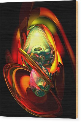 Raw Fury Abstract Wood Print by Alexander Butler