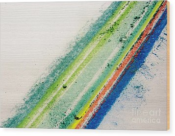 Wood Print featuring the pastel Raw by Kristine Nora