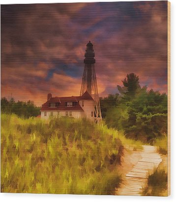 Rawley Point Lighthouse Wood Print by Joel Witmeyer