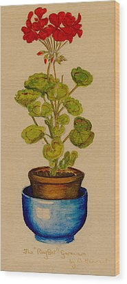 Ray-bet Geranium Wood Print