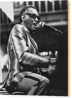 Ray Charles, Ca. 1980 Wood Print by Everett