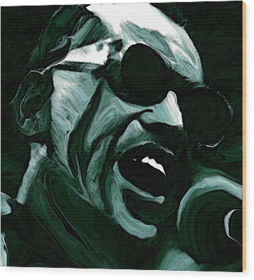 Ray Charles Wood Print by Jeff DOttavio