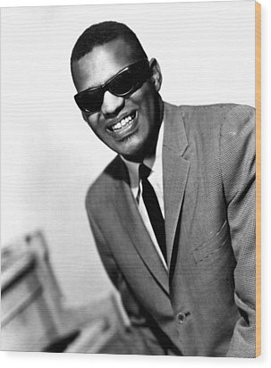Ray Charles, Portrait Ca. 1966 Wood Print by Everett