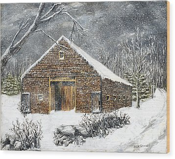 Ray Emerson's Old Barn Wood Print by Jack Skinner