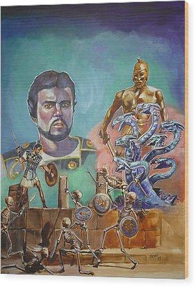 Ray Harryhausen Tribute Jason And The Argonauts Wood Print