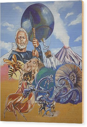 Ray Harryhausen Tribute The Mysterious Island Wood Print
