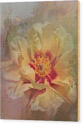 Rayanne's Peony Wood Print by Jeff Burgess