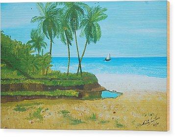 Raymond Les Bains Jacmel Haiti Wood Print by Nicole Jean-Louis