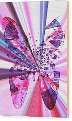 Rays Of Butterfly Wood Print by Amanda Eberly-Kudamik