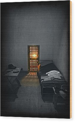 Rays Of Freedom Wood Print by Evelina Kremsdorf