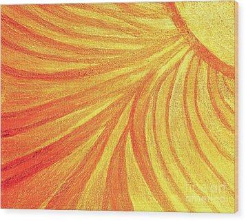 Rays Of Healing Light Wood Print