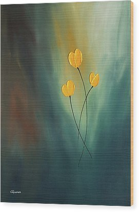 Wood Print featuring the painting Rays Of Hope by Carmen Guedez