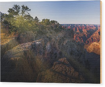 Rays Over The Canyon  Wood Print