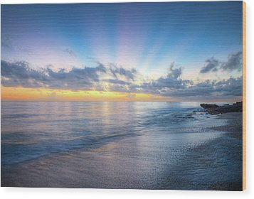 Wood Print featuring the photograph Rays Over The Reef by Debra and Dave Vanderlaan