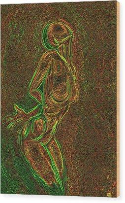Reach Wood Print by Aiden Galvin