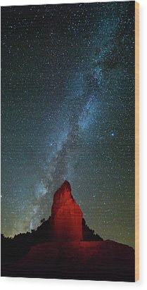 Wood Print featuring the photograph Reach For The Stars by Stephen Stookey
