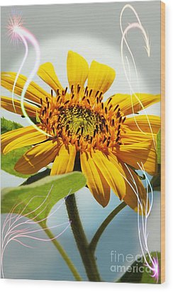Reach For The Sun Wood Print by Lori Mellen-Pagliaro