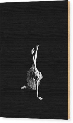 Reaching Ballerina Wood Print by Scott Sawyer