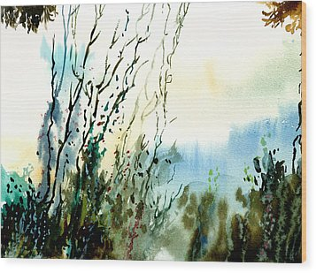 Reaching The Sky Wood Print by Anil Nene