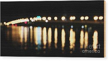 Bridge Of Lions -  Old City Lights Wood Print